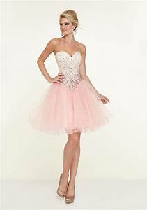 Light Pink Satin and Tulle Sweetheart Neck with Ombre