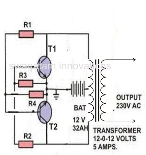 simple inverter circuit circuit diagram images