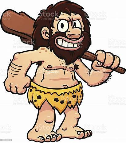 Caveman Cartoon Vector Illustration Adult Characters Memoangeles