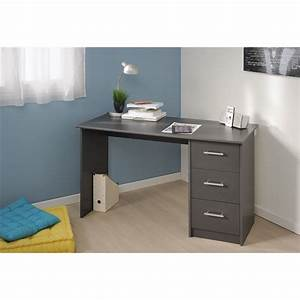 Bureau Moderne Design : meuble de bureau moderne avec 3 tiroirs coloris gris fonc bureau design bureau bureau ~ Teatrodelosmanantiales.com Idées de Décoration
