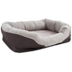 petco orthopedic peaceful nester gray dog bed petco