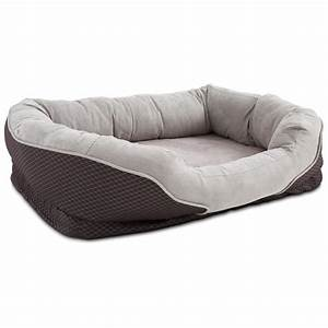 orthopedic peaceful nester gray dog bed petco With where to buy dog beds