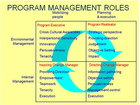 program management program management roles ld toolbox