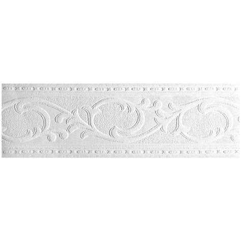 paintable wallpaper border york wallcovering patent decor acanthus leaf paintable border pt1833b