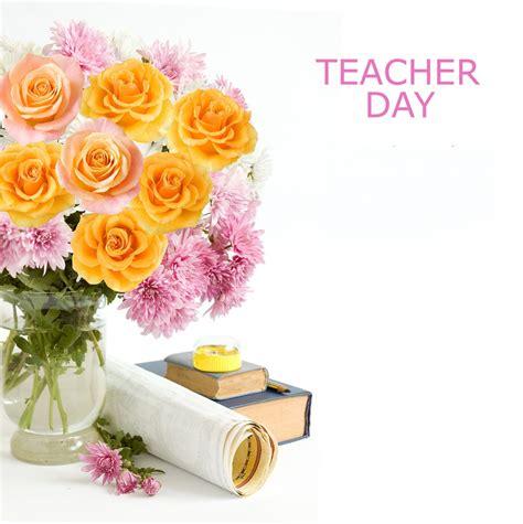 happy teacher day cards flowers elsoar