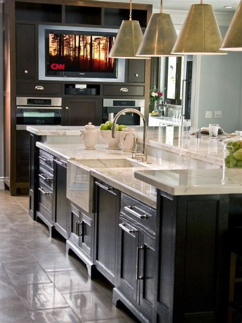nice island detail kitchen coffee bar armoire design