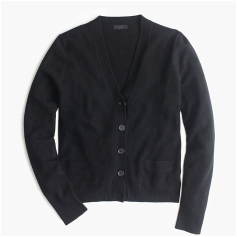 black sweater j crew collection cardigan sweater in black