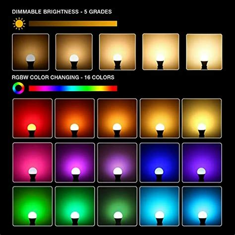 le rgb color changing light bulbs  remote dimmable