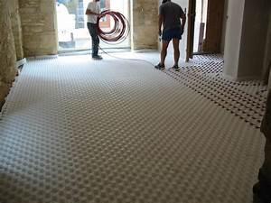 Dalle De Plancher Aggloméré : pose de plancher chauffant sur dalles plots michel viboud ~ Dailycaller-alerts.com Idées de Décoration