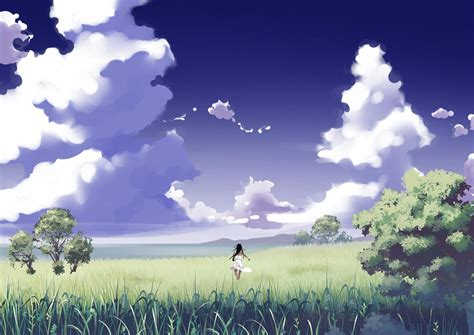anime nature clouds wallpapers hd desktop  mobile