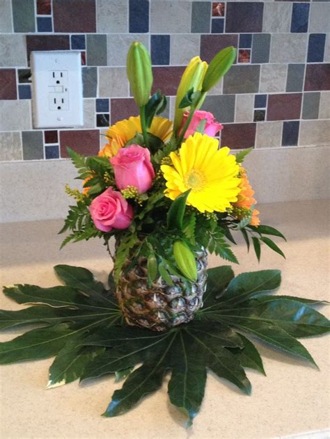 tropical decorations centerpiece hawaiian themed party luau party pinterest centerpieces luau centerpieces