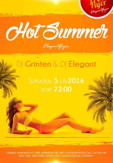 summer flyer templates free download 20 awesome free party flyers utemplates
