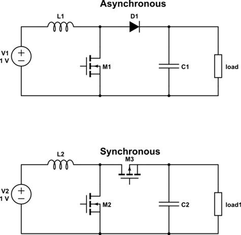 switch mode power supply difference between synchronous and conventional dc dc boost converter