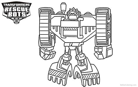boulder  transformers rescue bots coloring pages