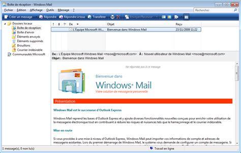 raccourci bureau windows windows mail sous seven il est présent mais caché le