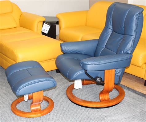 blue oversized chair and ottoman fairmont designs made