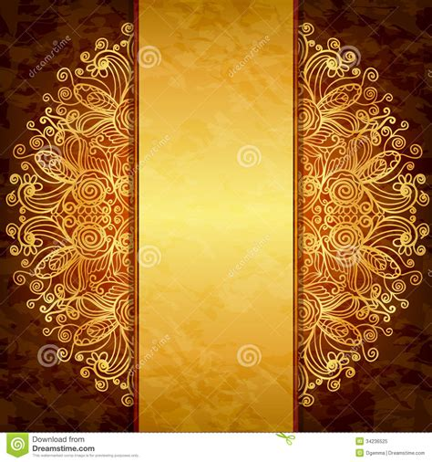 vintage gold design royalty  stock photo image