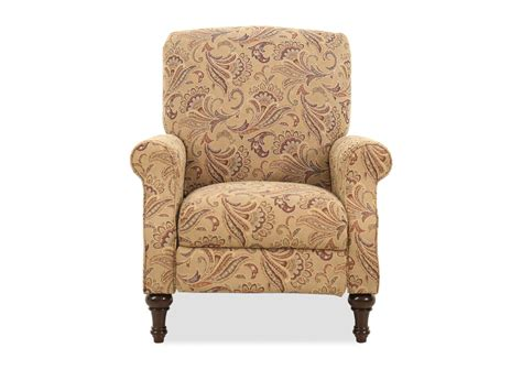 floral patterned contemporary  pressback recliner