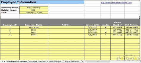 payroll spreadsheet  excel