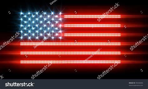 us flag made out lights led stock illustration 99446690