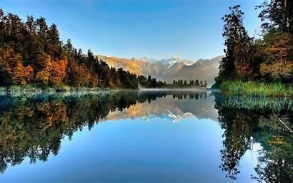 Zealand Lake Matheson Desktop Nature Wallpapers Lakes