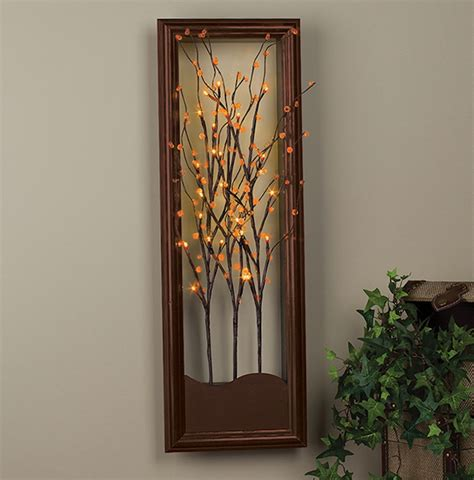 light tree on wall lighted wall decor ideas lights decors ideass ideas set