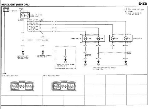 2003 mazda protege headlight wiring diagram wiring