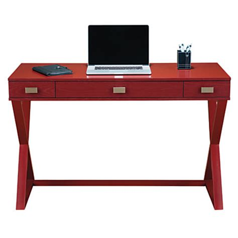 see jane work desk see jane work kate writing desk red by office depot