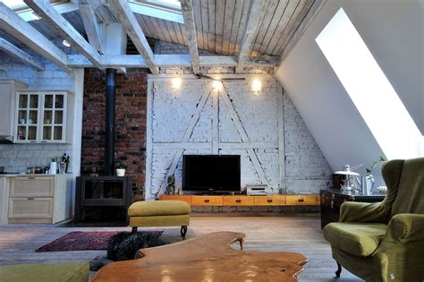 stylish renovated attic penthouse  belgrade  rustic