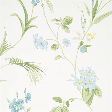 Orchid Apple Green Floral Wallpaper At Laura Ashley