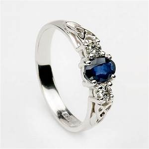 the rich blue of celtic sapphire wedding rings wedwebtalks With sapphire wedding ring