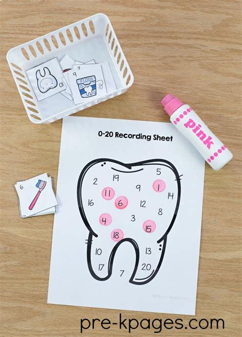 dental health theme activities for preschool 958 | Printable Dental Health Number Game for Preschool