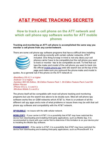 at t phone locator att mobile phone tracking monitoring