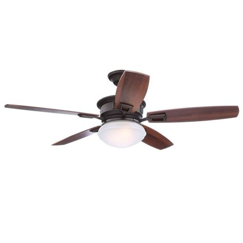bronze ceiling fan with light and remote hton bay lazerro ii 52 in indoor oil rubbed bronze