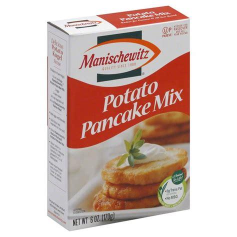 Mix in egg, salt, and black pepper. Manischewitz Pancake Mix, Potato (6 oz) from Safeway - Instacart