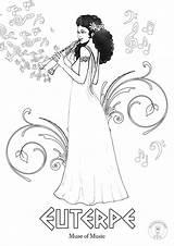 Greek Coloring Mythology Goddesses sketch template