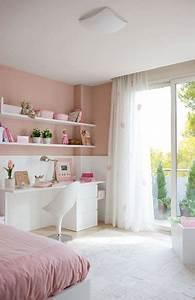 Chambre Rose Pale : une chambre de fille rose le kitsh aux oubliettes deco cool ~ Melissatoandfro.com Idées de Décoration