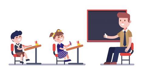 Insegnante o insegnante che studia con gruppo di ragazzi