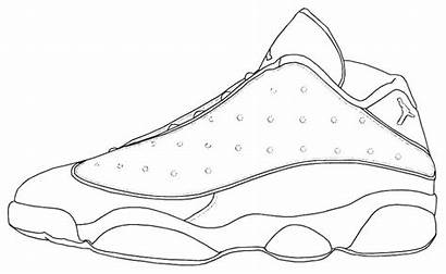 Nike Coloring Shoes Shoe Pages Drawing Running
