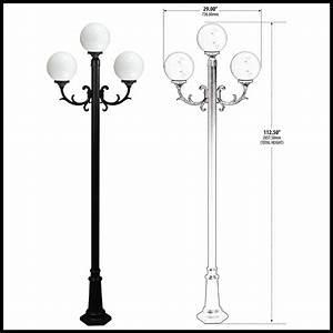 Lamp globe light post fixture