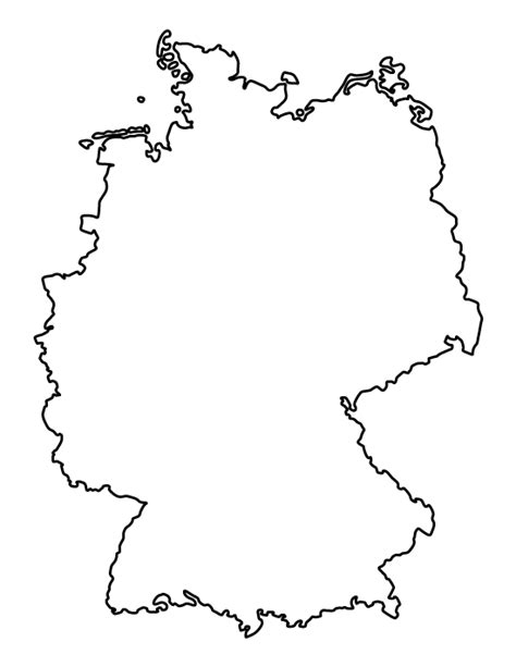 Available in ai, eps, pdf, svg, jpg and png file formats. Printable Germany Template