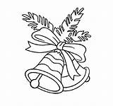 Coloring Pages Bells Bell Printable Christmas sketch template