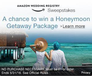 brides create a wedding registry and win a honeymoon With win a free honeymoon