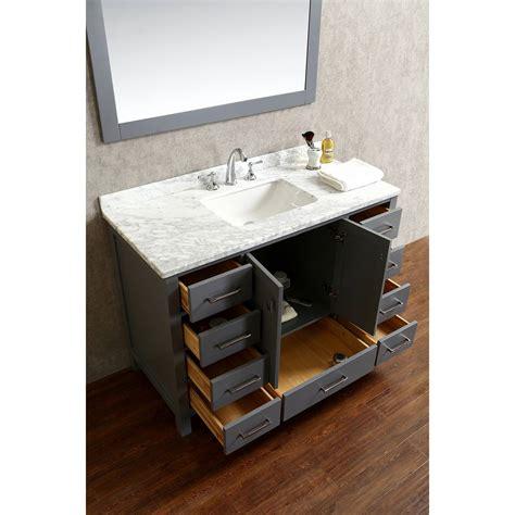 buy vincent 48 inch solid wood single bathroom vanity in