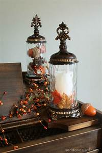 Simple Fall Decorating - Sand and Sisal