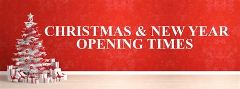 christmas  year opening hours