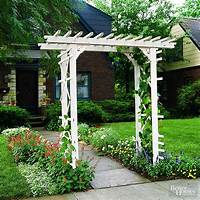 building an arbor How to Build a Simple Entry Arbor | Better Homes & Gardens