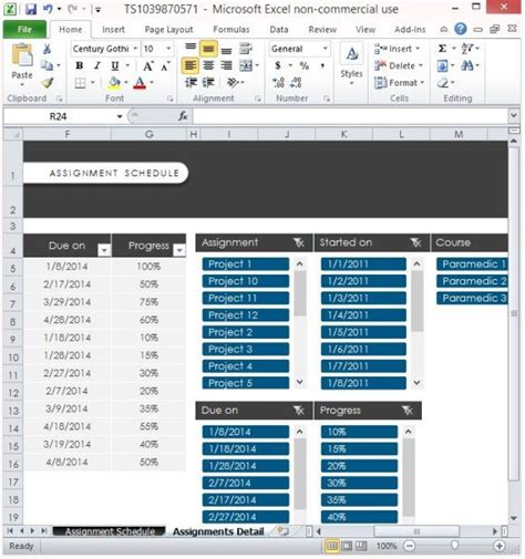 assignments template  excel