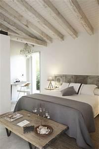 10 deco chambres avec poutres apparentes very charmantes With deco maison ancienne avec poutre