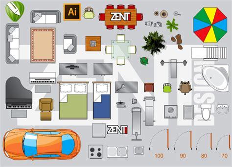 furniture floor plan vector premium zent design
